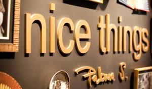Nice things. Shooting Valencia´s shop
